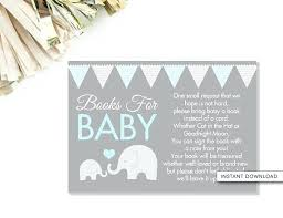 bring a book instead of a card poem books for baby shower elephant book card bring a book card elephant