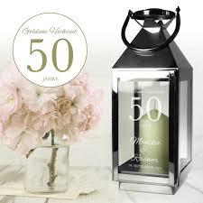 geschenke zum 50 hochzeitstag laterne zur goldenen hochzeit schöne persönliche geschenkidee