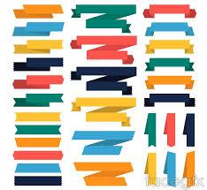 paper ribbons 30 colored paper ribbons design vector millions vectors