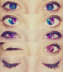 galaxy eyes colored contacts i want them would you wear these