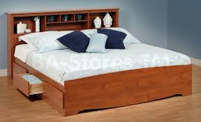 queen platform bed with drawers bedroom furniture shown on a