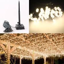 warm white string fairy lights gzyf warm white 200 led solar powered light xmas christmas wedding