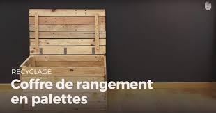 Faire Un Meuble Tv En Palette by Apprendre à Monter Un Coffre De Rangement En Palette Fabriquer