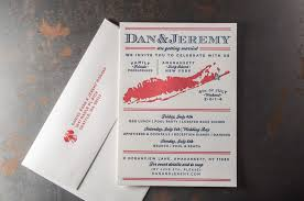 wedding invitations new york 4th of july wedding invitations letterpress printing island
