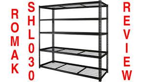 romak heavy duty shelves shl030 review youtube