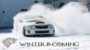 subaru drift snow brace yourselves the winter is coming subaru wrx
