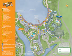 Walt Disney World Map Pdf by Resort Maps Magical Distractions