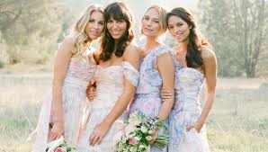 watercolor bridesmaid dresses 2015 wedding trends watercolor kate aspen
