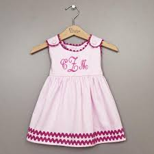 monogram baby items personalized garden princess cotton pique dress pink with hot