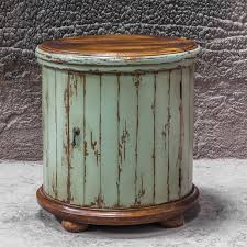 Ceramic Accent Table Table Endearing Uttermost 25664 Axelle Wooden Drum Accent Table