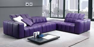 Chaise Lounge Leather Sofa by Two Tone Leather Sofa Living Room Furniture Modular L Shaped