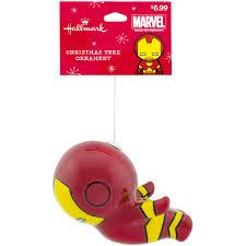 Marvel Christmas Ornaments - hallmark marvel iron man decoupage ornament walmart com