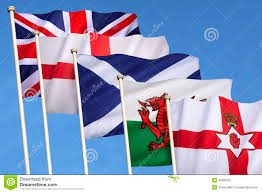 the flags of british northern ireland scotland wales and england