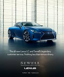 lexus sewell fort worth sewell lexus lc magazine ad donna scoggins writer copywriter