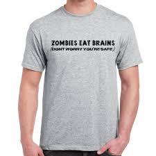 World Map T Shirt mens funny sayings slogans t shirts zombies eat brains tshirt ebay