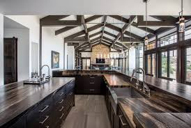 white kitchen cabinets with wood beams photo 12 of 19 in gate by jaffa design build