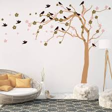 summer blossom tree wall stickers by parkins interiors summer blossom tree wall stickers
