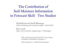 bureau des contributions directes the contribution of soil moisture information to forecast skill two
