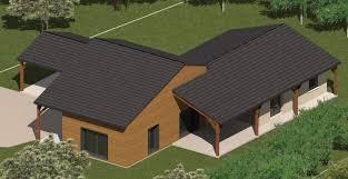 plan de maison de plain pied avec 4 chambres construction 86 fr plan maison mixte bois maçonnerie plain pied