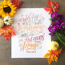 enter with thanksgiving scripture print color whitten