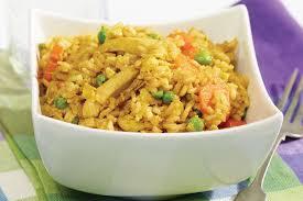 comment cuisiner du riz riz frit au poulet et cari recette facile fondation olo