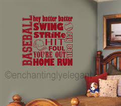 baseball wall art decals color the walls of your house