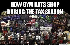 Gym Rats Meme - gym rats shop during the tax season