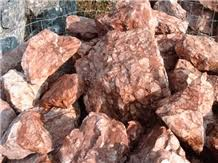 rosso verona ornamental rock marble garden decor from italy