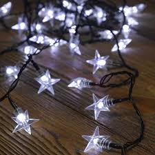 Battery Operated Star Lights 100 White