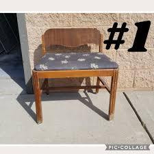 Shabby Chic Vanity Chair Vintage Vanity Bench Vanity Chair Shabby Chic Glam Pick Up Only