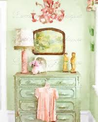 shabby bedroom a shabby chic vignette watercolor fine art print