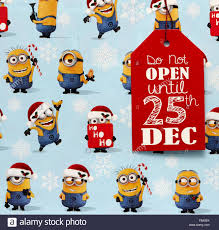 minion gift wrap a christmas present with minion wrapping paper and a label do not