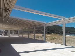 Retractable Awnings San Diego Pergola With Retractable Fabric Roof This Would Be Easy And