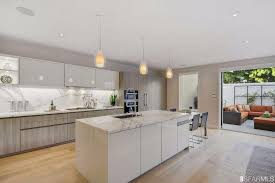 kitchen island wall modern kitchen with one wall undermount sink in san francisco