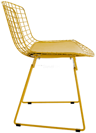 harry bertoia style wire dining side chair coloured style