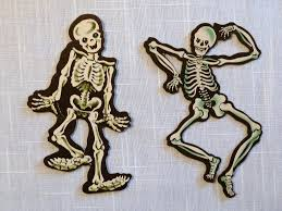 Vintage Halloween Decor Vintage Halloween Decorations Dennison Skeleton Die Cuts Flickr