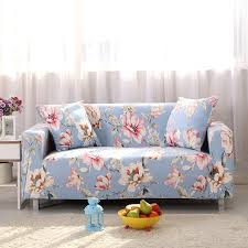 Online Shopping Sofa Covers Online Shop Sofa Covers Elastic Spandex Flowers Printed Light Blue