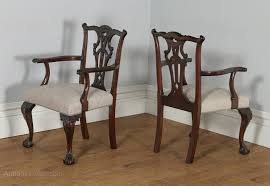 Antique Dining Chairs Set Of 8 Chippendale Style Mahogany Dining Chairs Antiques Atlas