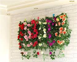 Wedding Wall Decor 2017 Simulation Roses Wedding Wall Decor Home Decoration Fake