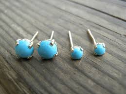 turquoise stone wallpaper 14k gold studs tiny 3mm turquoise stud earrings by annalisjewelry
