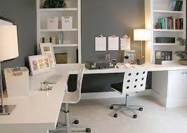 delightful office with grey and white palettes part of interior