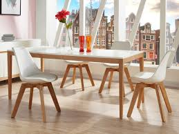 Table Salle A Manger Bois Clair by Pack Salle à Manger Table Sedna 4 Chaises Paddy Blanc