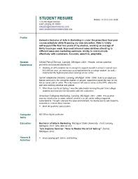 student resume template resume template for college student resume sle