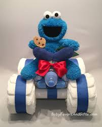 cookie monster baby shower cookie monster 4 wheeler diaper cake babyfavorsandgifts com
