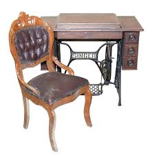Antique Singer Sewing Machine Table Antique Singer Sewing Machine And Table With Chair Ebth