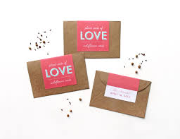 seed favors makr diy favors custom seed packets