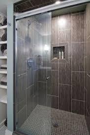 bathroom tile design i like this shower gray tile tiny subway tiles built in shelves