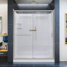 30 Shower Door Dreamline Infinity Z 30 In X 60 In Semi Frameless Sliding Shower