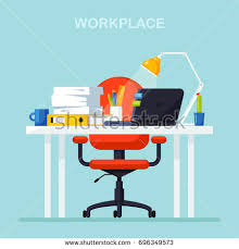 Seat Chair Red Office Chair Isolated On White Stock Vector 680095588