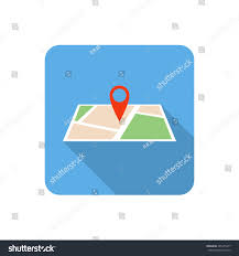 Map Icon Flat Map Icon Long Shadow Vector Stock Vector 281455277 Shutterstock